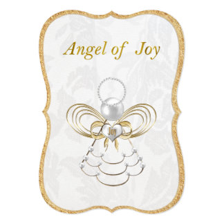 Pearls and Gold - Metallic Christmas Angel of Joy Card