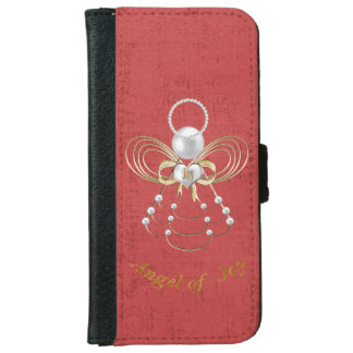 Pearls and Gold - Metallic Christmas Angel of Joy iPhone 6/6s Wallet Case