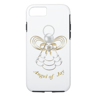 Pearls and Gold - Metallic Christmas Angel of Joy iPhone 7 Case