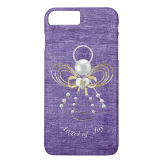 Pearls and Gold - Metallic Christmas Angel of Joy iPhone 7 Plus Case