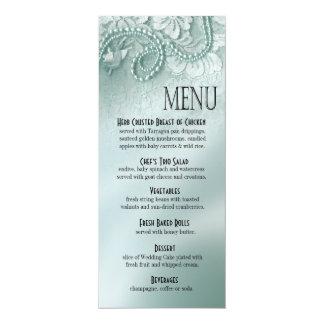 Pearls and Lace Dinner Menu | caspian blue Card