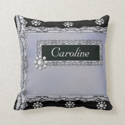 Pearls and Lace Personal Customised Pillow