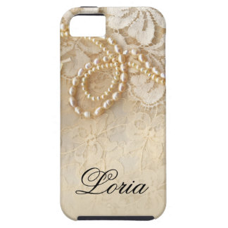 Pearls and Lace Signature | eggshell iPhone SE/5/5s Case