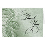 Pearls and Lace Thank You | mint green Cards