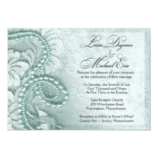 Pearls and Lace Wedding | caspian blue Card