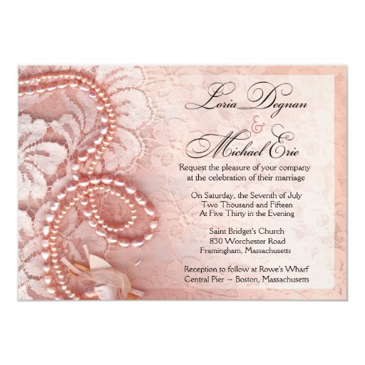 """Pearls and Lace Wedding 