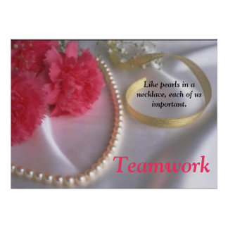 Pearls and Teamwork poster by tdgallery
