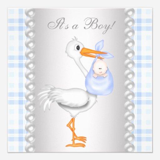 Custom Blue Stork Baby Shower Invites Templates Page2 Babyfavors4u