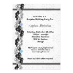 Pearls, Diamonds And Damask Surprise Party Inivte Personalized Invitation