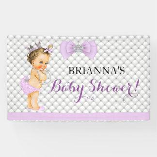 Pearls Diamonds Princess Baby Lavender Crown Banner