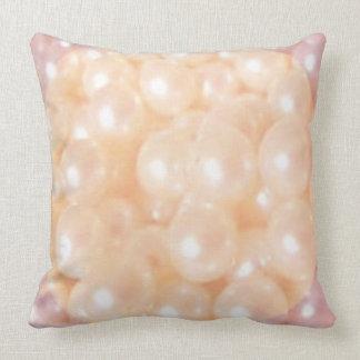Pearls Grade A Cotton Throw Pillow 20x20