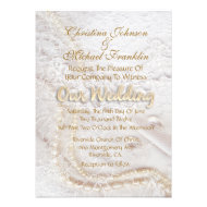 Pearls & Lace Personalized Announcements