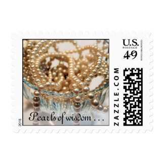 Pearls of wisdom . . . stamp