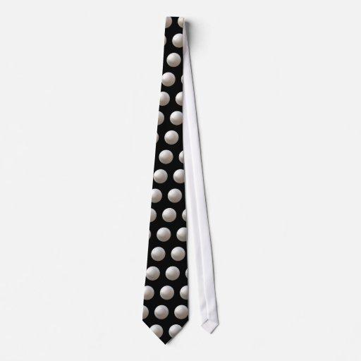 Pearls On Black Neck Tie