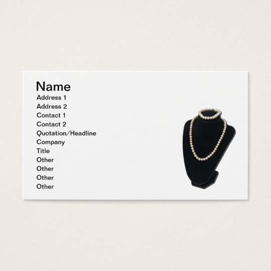 Pearls on Neck Form Business Card