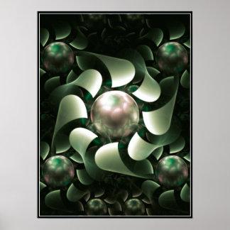 Pearls & Paper Petals Poster (green)