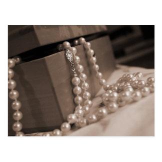 Pearls Post Card