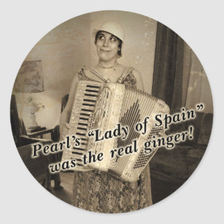 Pearl's the Real Ginger Classic Round Sticker