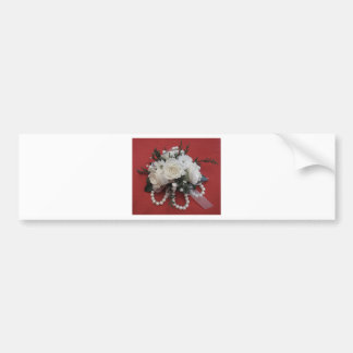 Pearls & White Roses Bumper Sticker