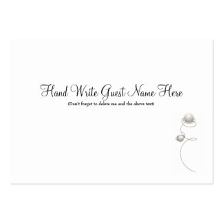 Pearls & Wire  - Place Cards Business Card Templates