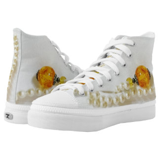 pearls with amber High-Top sneakers