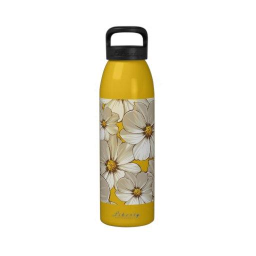 Pearly Blackfoot Daisy Flowers Water Bottles