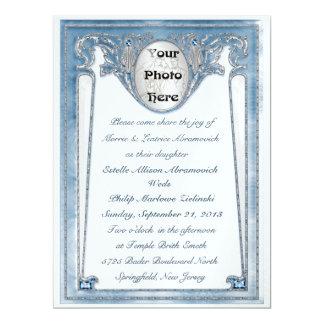 Pearly Blue - Photo (Wedding Invitation) 6.5x8.75 Paper Invitation Card