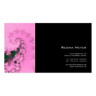 Pearly · Fractal Art · Pink Business Card