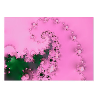 Pearly · Fractal Art · Pink Business Card Template