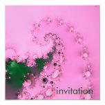 Pearly · Fractal Art · Pink Custom Invitation
