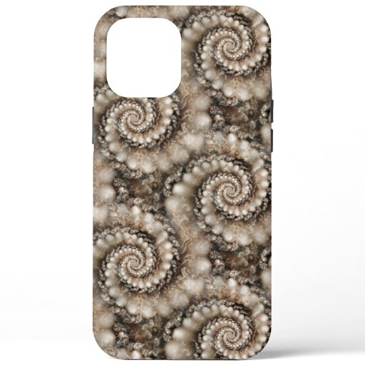 Pearly Fractal Art Spiral iPhone / iPad case