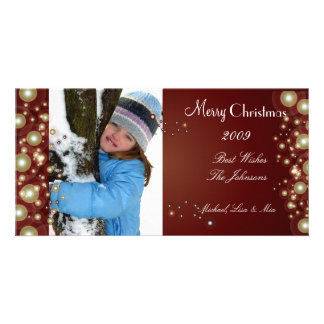 Pearly Gold christmas ornament, photo cards