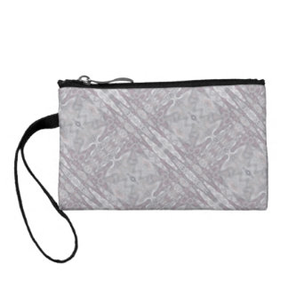 pearly gray geometric abstract coin wallet