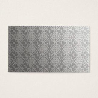 Pearly Grey Pattern Business Cards Template Blank