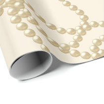 Pearly Pearls Ivory Creamy Bridal Wedding Birthday Wrapping Paper