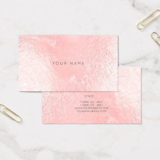 Pearly Pink Rose Blush Metallic Appointment Card