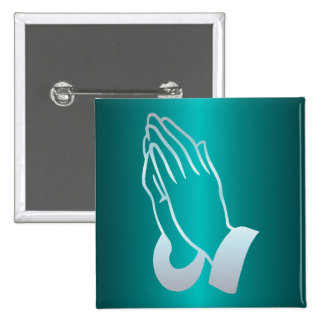 Pearly Praying Hands Pinback Button