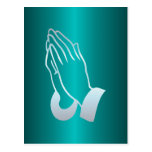 Pearly Praying Hands Postcard