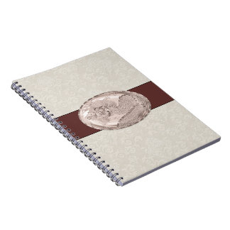 Pearly Rose Metallic Dragon Medallion Notebook