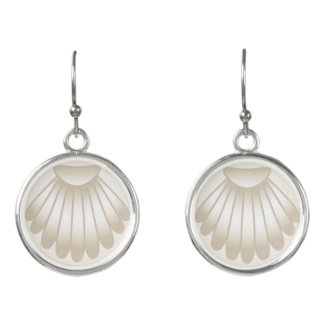 Pearly Sea Shell Drop Earrings