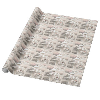 Pearly Sea Shells Beach Wrapping Paper