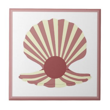 Beach Themed Pearly Shell Ceramic Tile