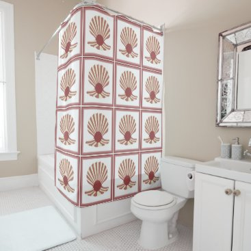 Beach Themed Pearly Shell Shower Curtain
