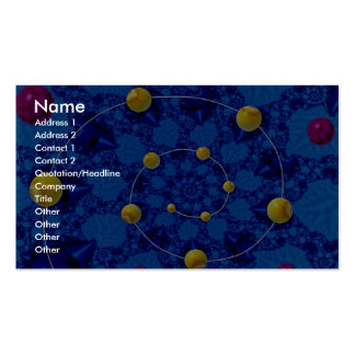 Pearly spiral in a blue matrix photo business cards