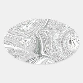 Pearly Swirl Oval Sticker