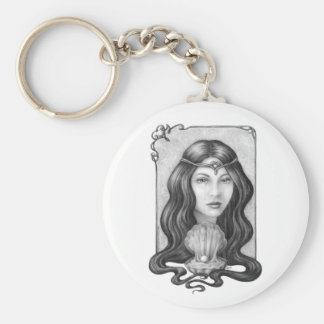 Pearly Tears Basic Round Button Keychain