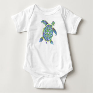 Pearly Turtle Baby Bodysuit