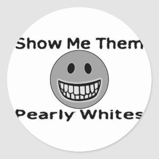 Pearly Whites Classic Round Sticker
