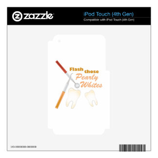 Pearly Whites iPod Touch 4G Decals