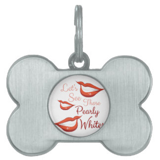 Pearly Whites Pet ID Tag